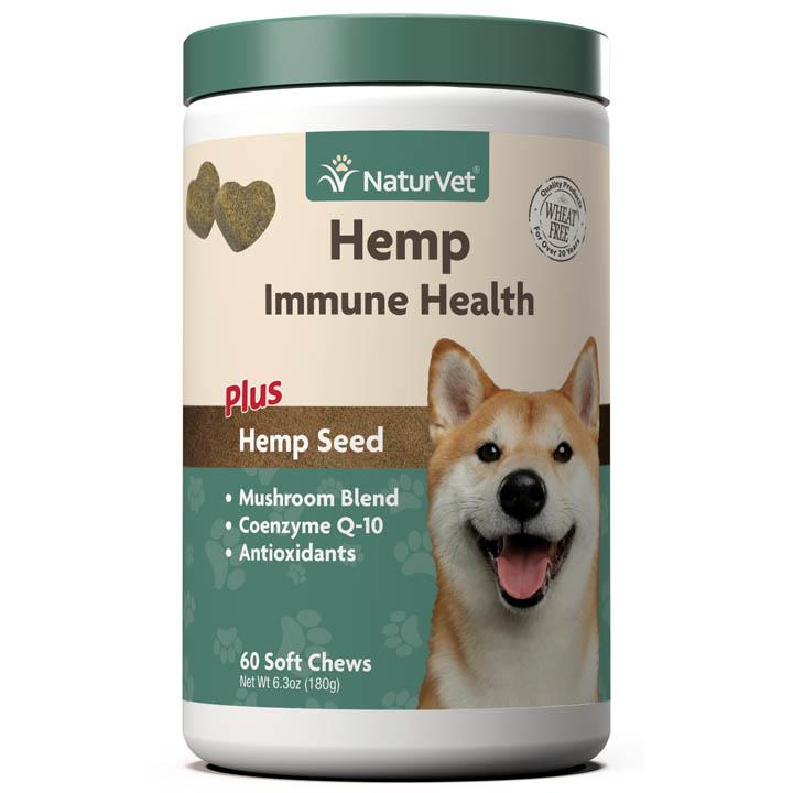 NaturVet NaturVet Hemp Immune Health Soft Chew Dog Supplement 60ct