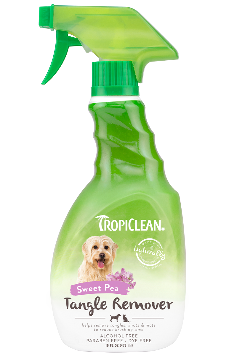 TropiClean Tropiclean Tangle Remover Sweet Pea Detangling Spray 16oz