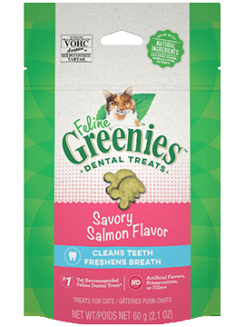 Nutro Greenies Feline Dental Savory Salmon Cat Treats 2.1oz