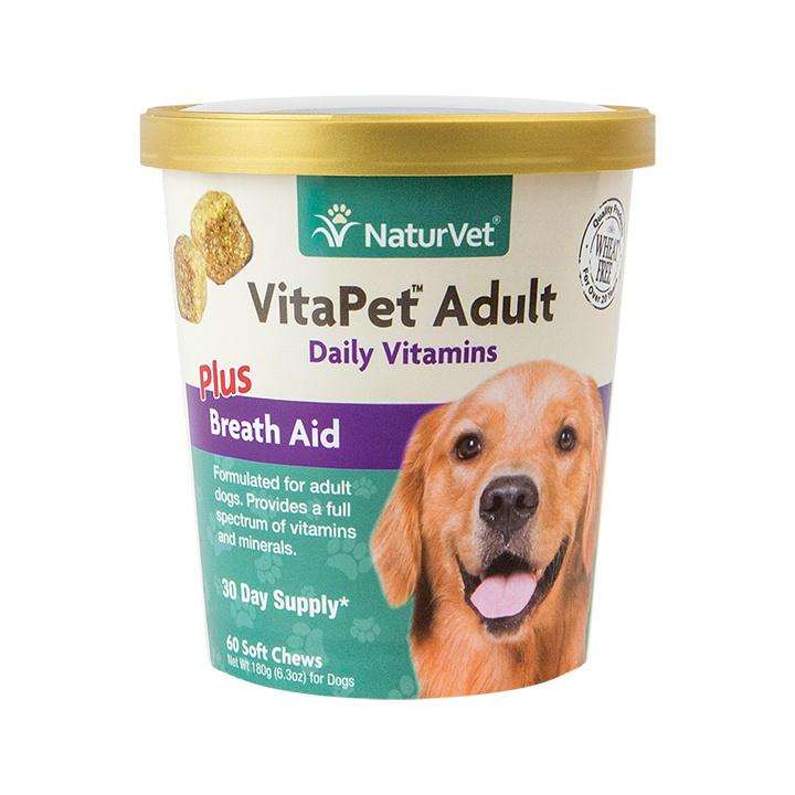 NaturVet NaturVet VitaPet Adult Plus Breath Aid Soft Chew Dog Supplement 60ct