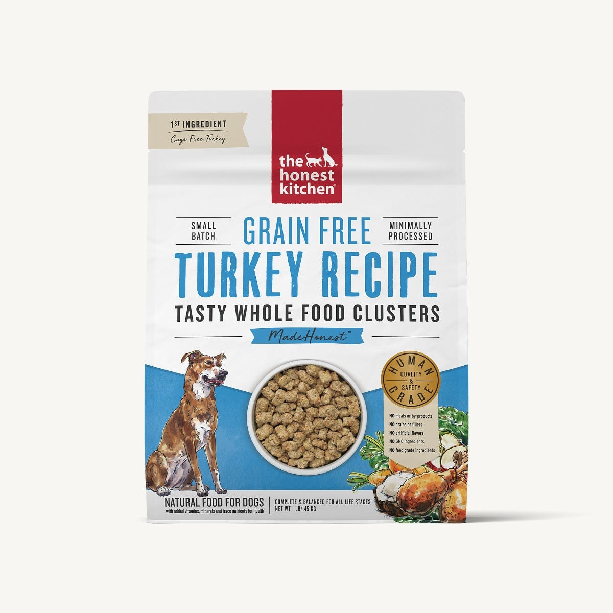 The Honest Kitchen The Honest Kitchen Clusters Grain Free Turkey Dog Food