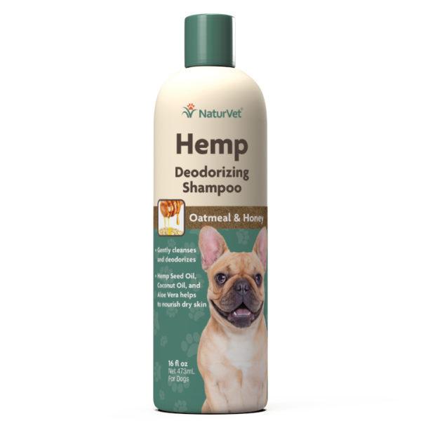NaturVet NaturVet Hemp Deodorizing Shampoo With Oatmeal & Honey 16oz