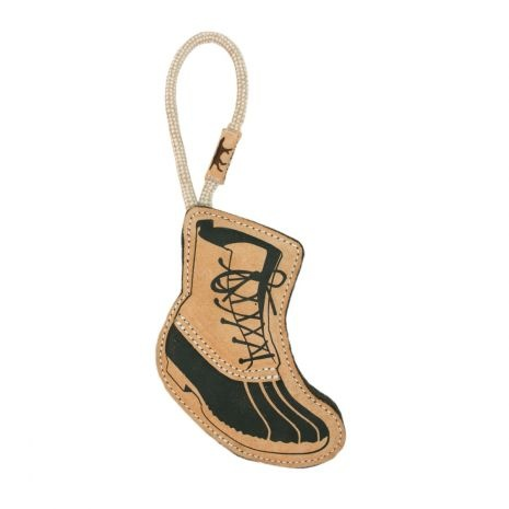 Tall Tails Tall Tails Leather & Wool Hiking Boot Dog Toy