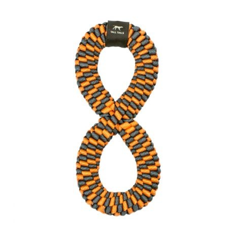 """Tall Tails Tall Tails Braided Infinity Dog Toy Orange 11"""""""