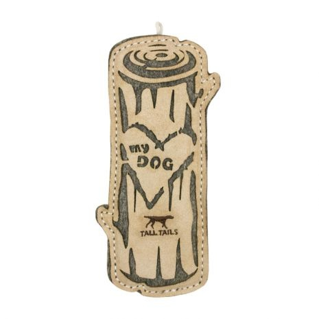 "Tall Tails Tall Tails Natural Leather ""Love My Dog"" Log Dog Toy"