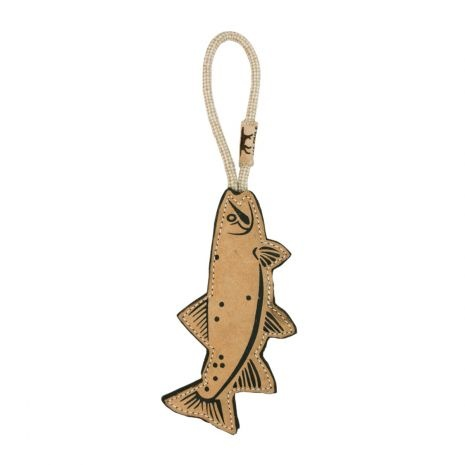 Tall Tails Tall Tails Leather & Wool Trout Dog Toy
