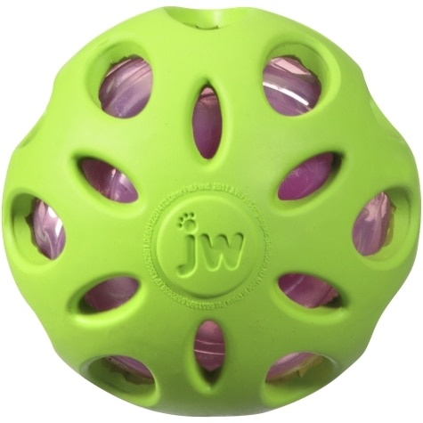 JW Pet JW Pet Crackle Head Crackle Ball Medium Dog Toy