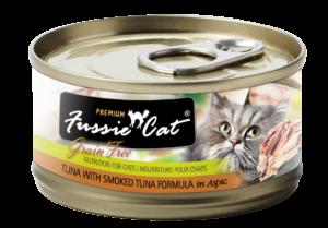 Zignature Fussie Cat Smoked Tuna with Tuna Wet Cat Food 2.8oz