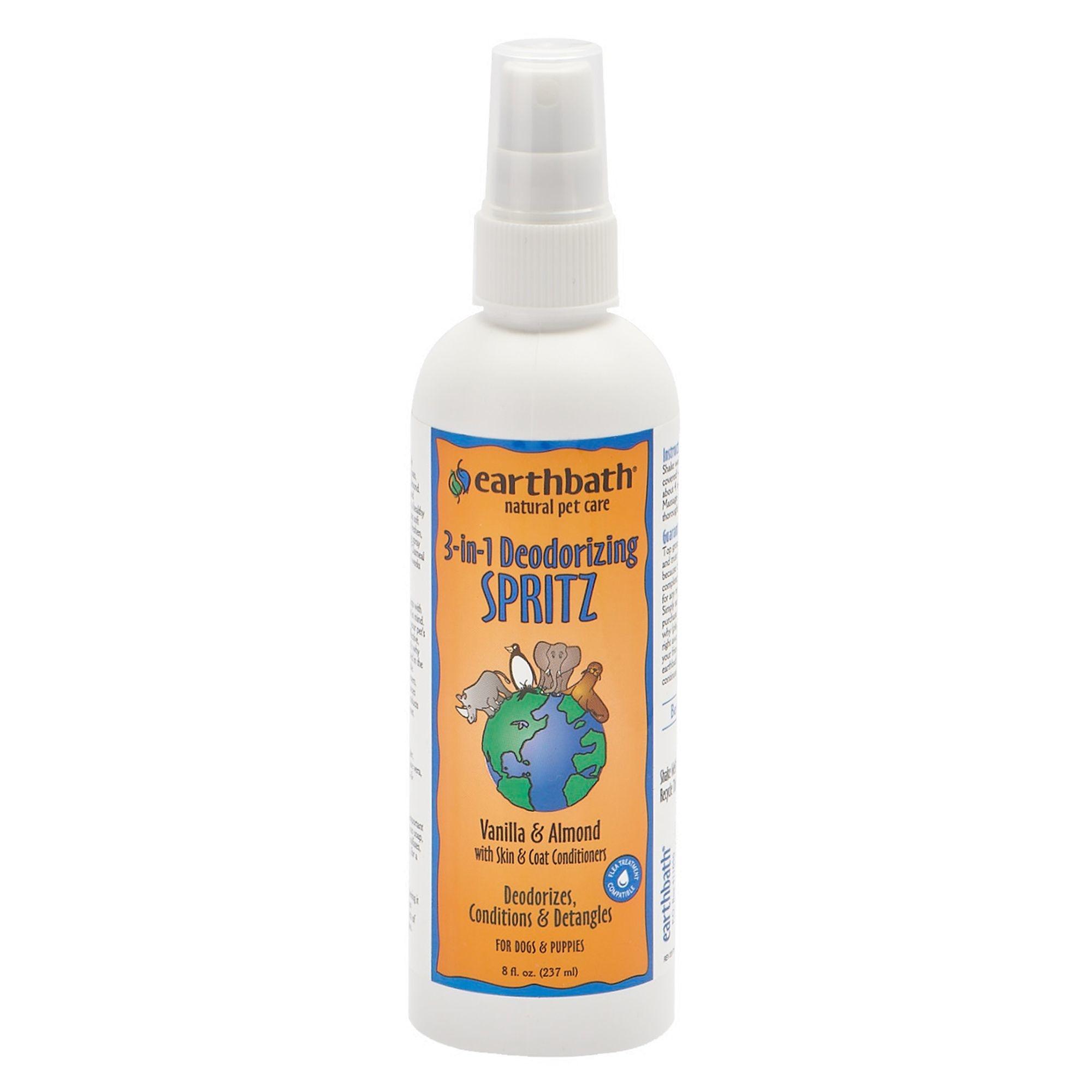 Earthbath Earthbath 3-in-1 Vanilla & Almond Deodorizing Spritz 8oz