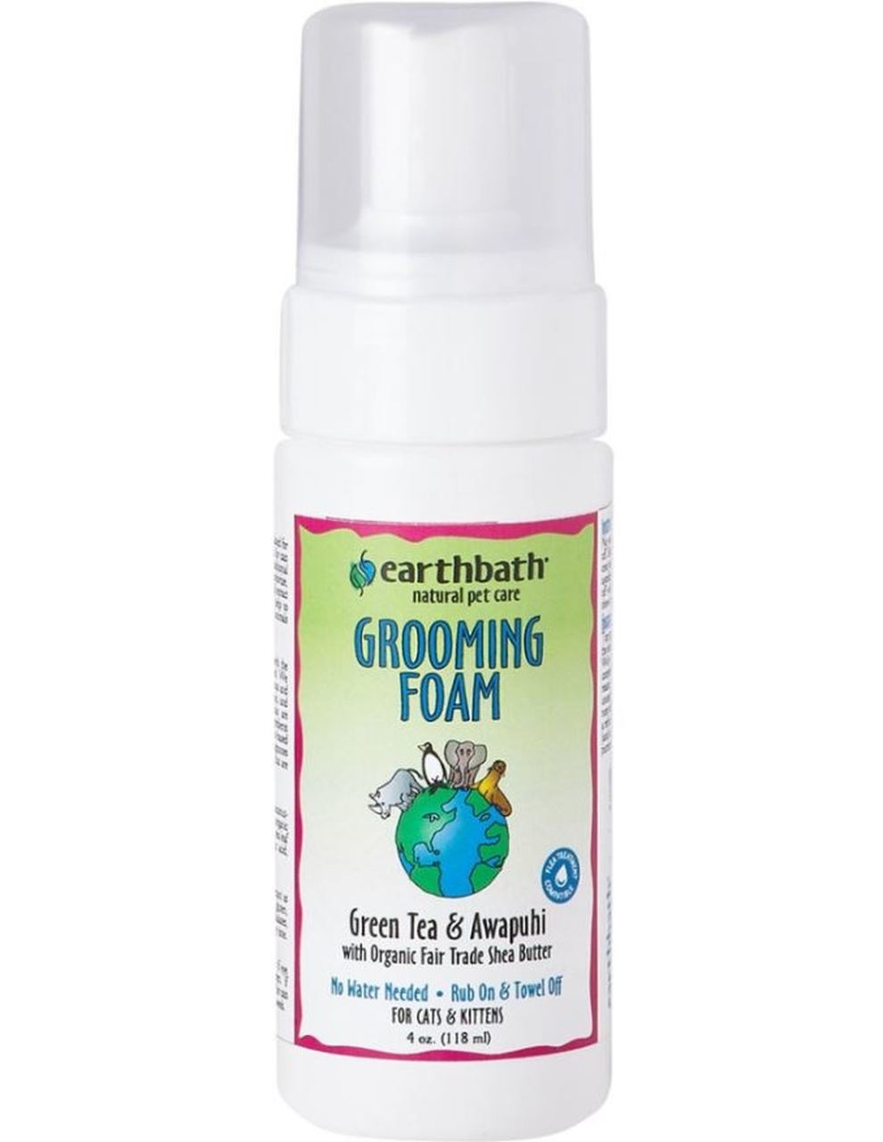 Earthbath Earthbath Green Tea & Awapuhi Cat Grooming Foam 4oz