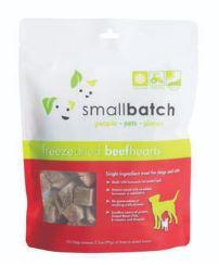 Small Batch Small Batch Freeze Dried Beef Hearts Dog Treat 3.5oz