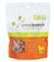 Small Batch Small Batch Freeze Dried Chicken Hearts Dog Treats 3.5oz