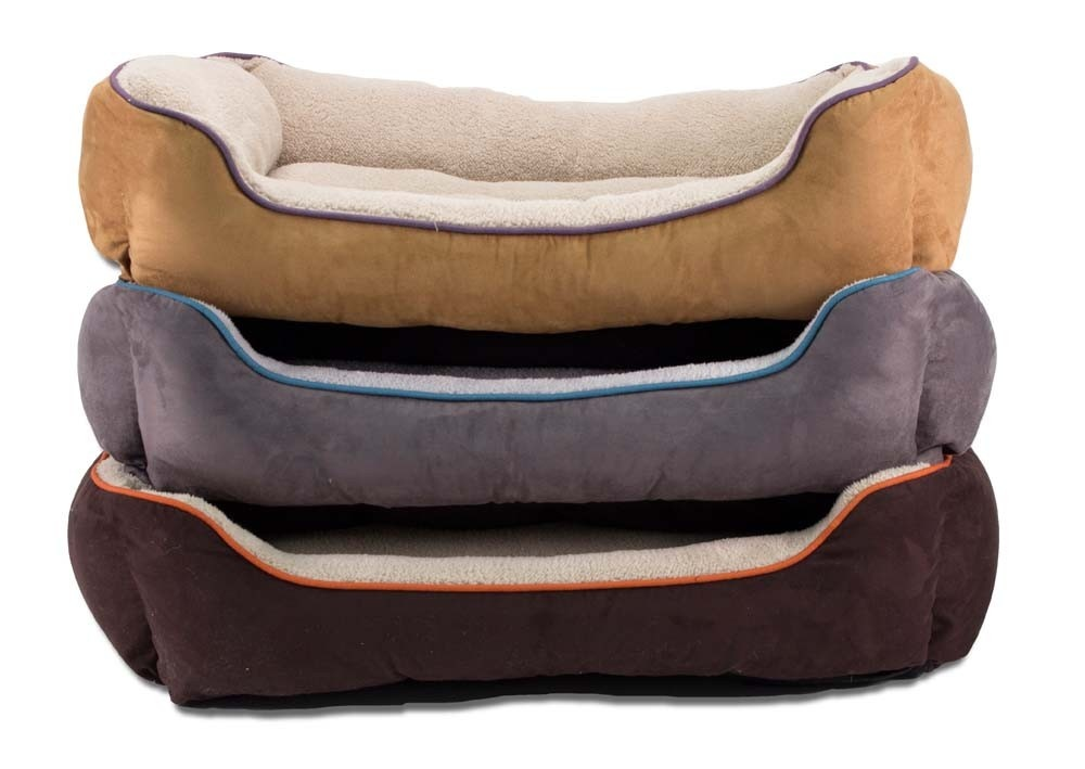 Dallas Manufacturing Co. Dallas Manufacturing Co. Faux Suede Box Bed Assorted Colors
