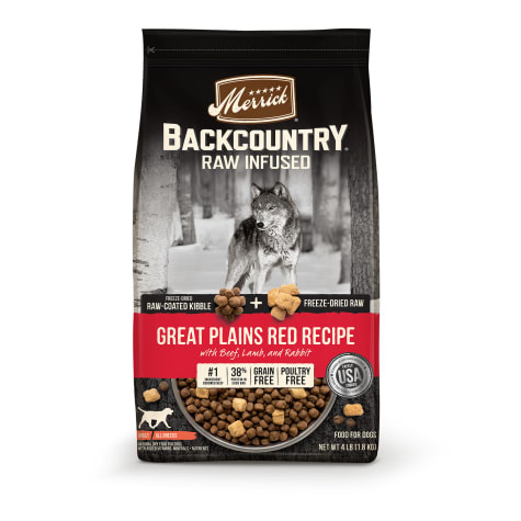 Merrick Merrick Backcountry Raw Infused Great Plains Red Recipe Dry Dog Food