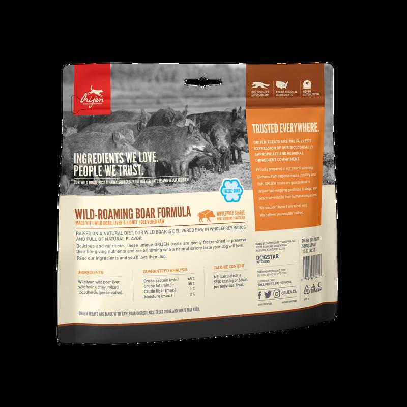 Orijen Orijen Freeze Dried Wild Boar Dog Treats 3.25oz