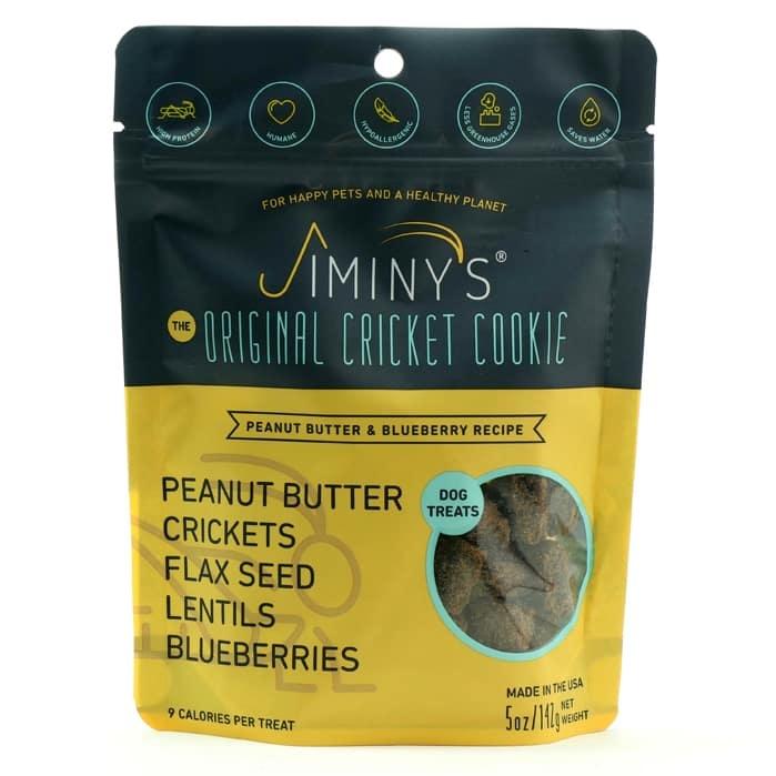 Jiminy's Jiminy's Peanut Butter & Blueberry Recipe Dog Treat 5oz