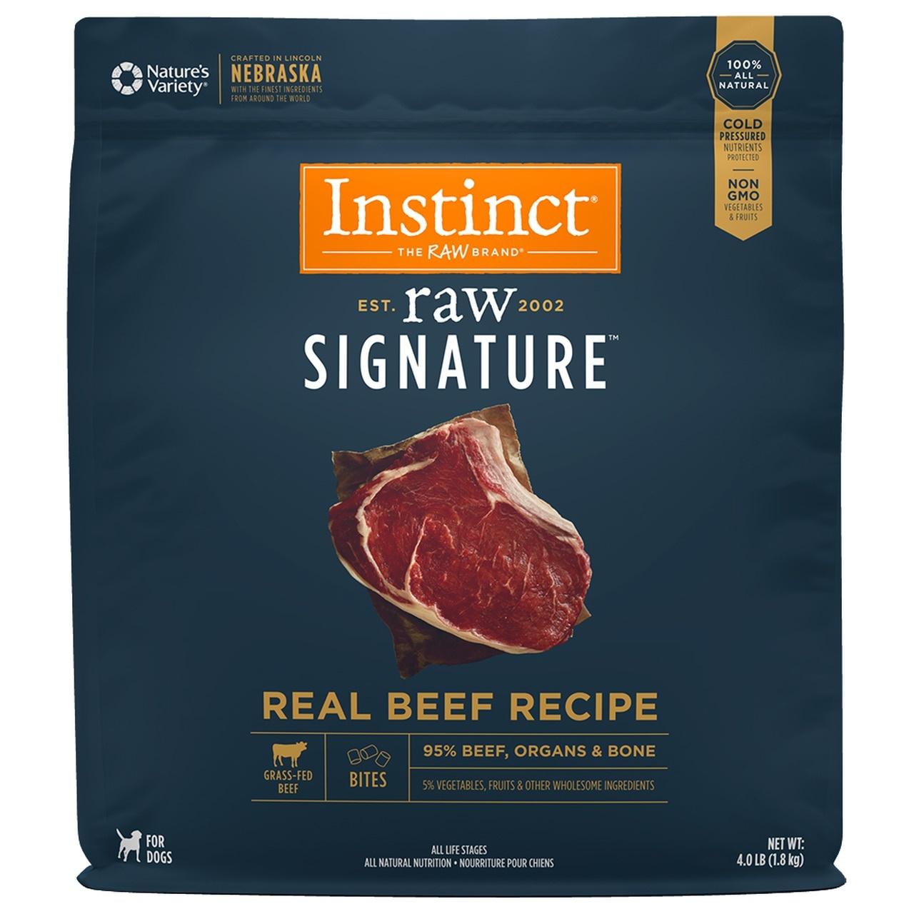 Instinct Signature Bites Real Beef Raw Dog Food