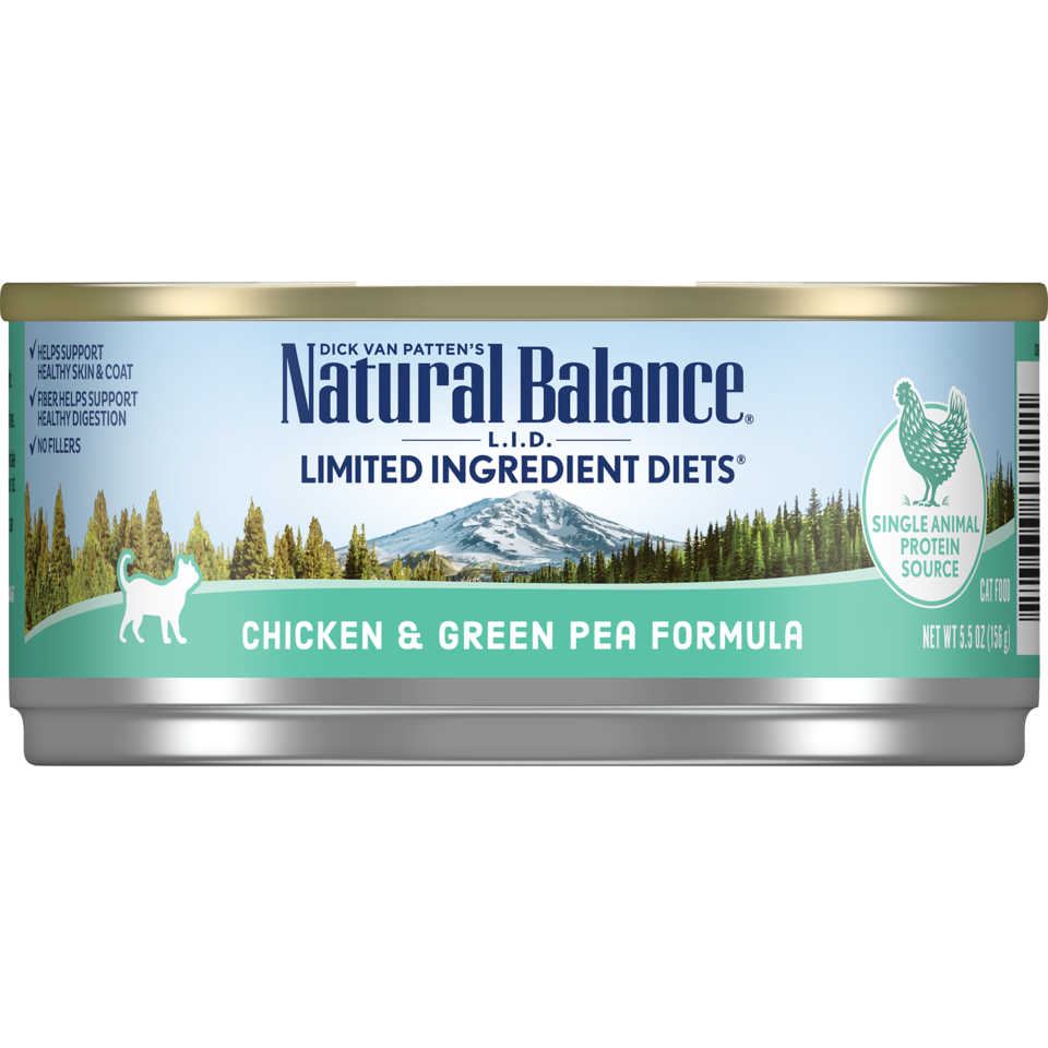 Natural Balance Natural Balance Limited Ingredient Diet Chicken & Green Pea Wet Cat Food 5.5oz