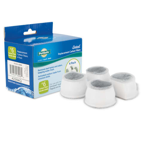 PetSafe Drinkwell Pagoda & Avalon Fountain #6 Replacement Filter 4pk