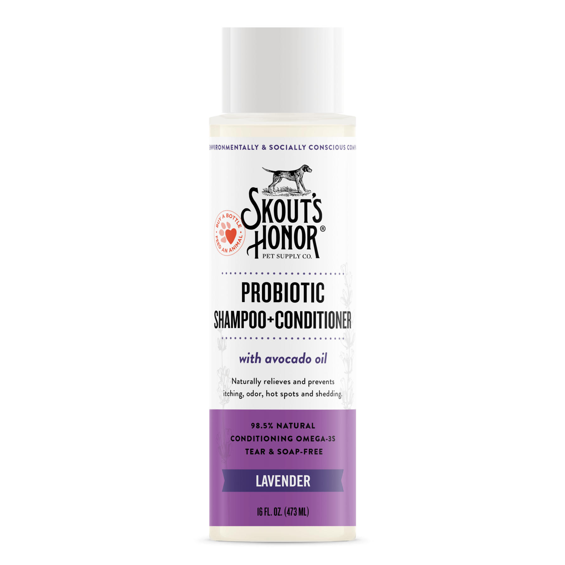 Skout's Honor Skout's Honor Lavender 2-in-1 Shampoo & Conditioner 16oz