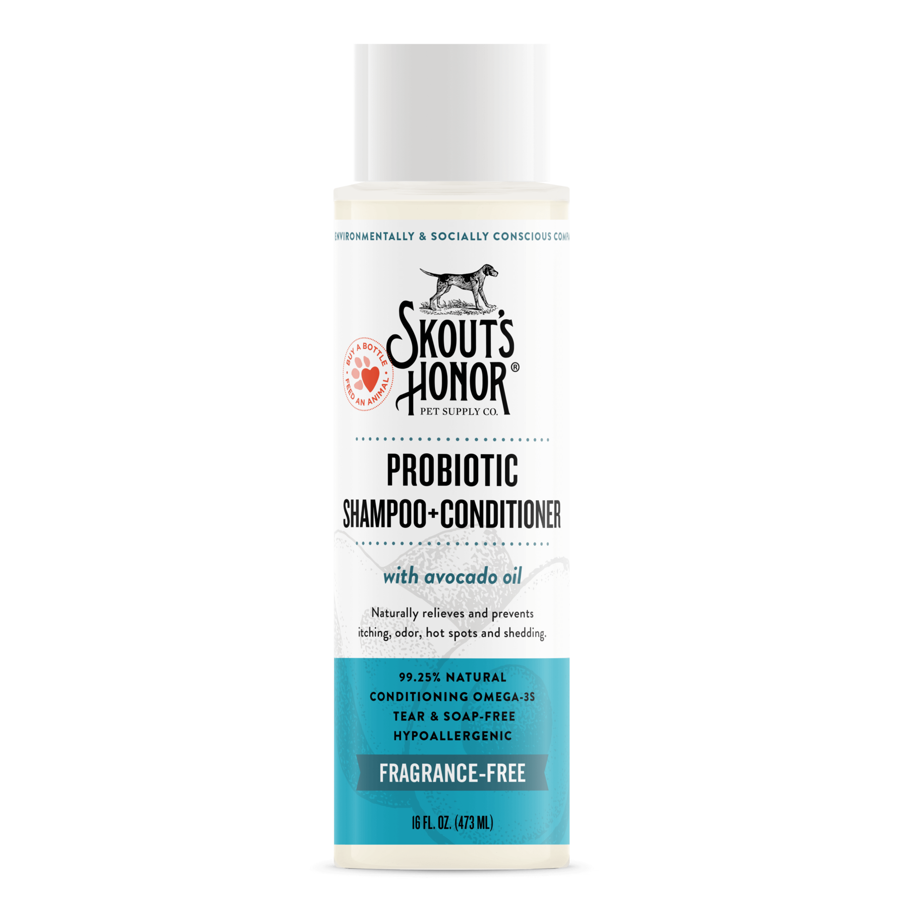 Skout's Honor Skout's Honor Unscented 2-in-1 Shampoo & Conditioner 16oz