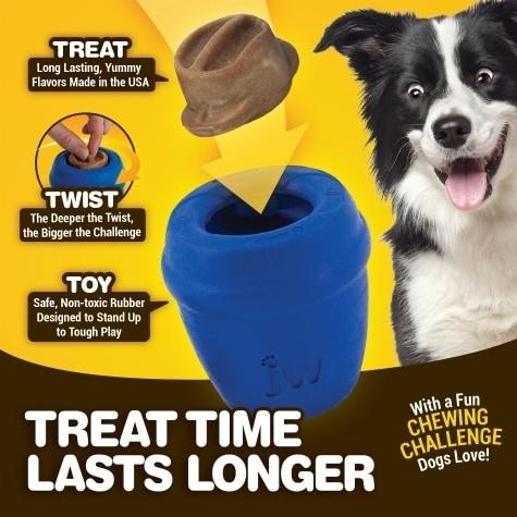 JW Pet JW Twist-In Treat Ball Dog Toy
