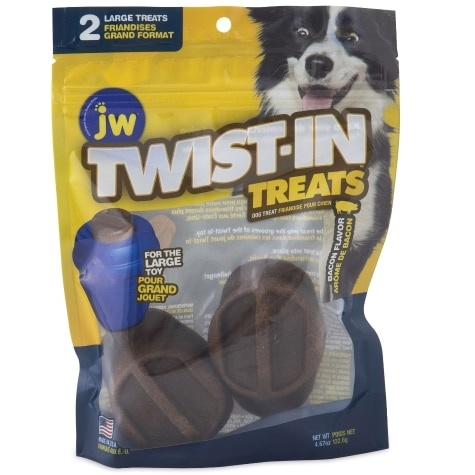 JW Pet JW Twist-In Treat Bacon Dog Chew 2pk