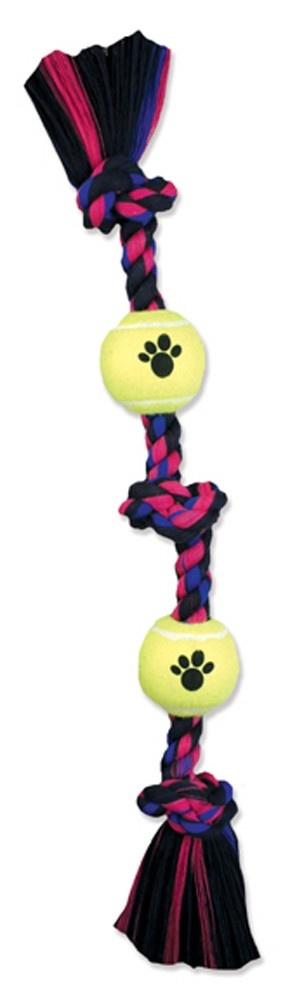 Mammoth Mammoth 3 Knot & 1 Ball Rope Tug Dog Toy Medium