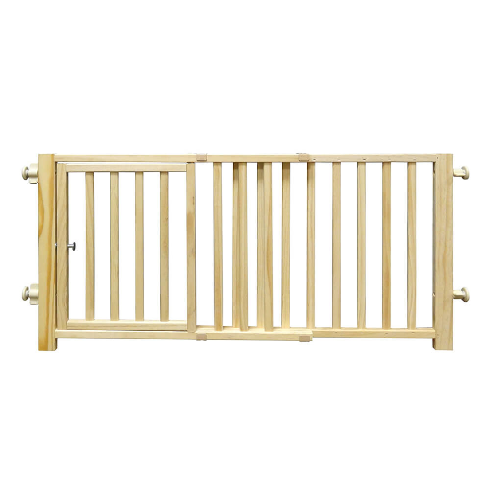"""Four Paws Four Paws Walkover Wood Gate with Door 30""""-44"""" W x 18"""" H"""