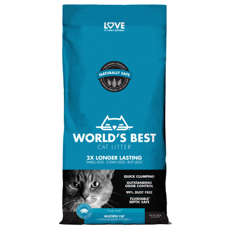 World's Best World's Best Multi Cat Lotus Blossom Clumping Cat Litter
