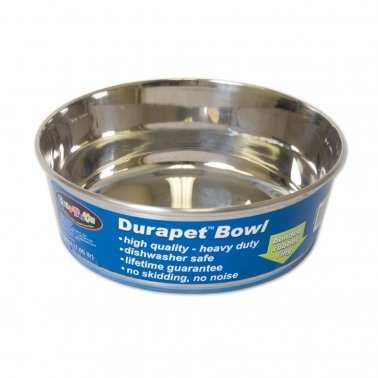 Our Pets Durapet Premium Rubber-Bonded Stainless Steel Bowl