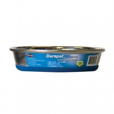 Durapet Premium Rubber-Bonded Stainless Steel Cat Dish