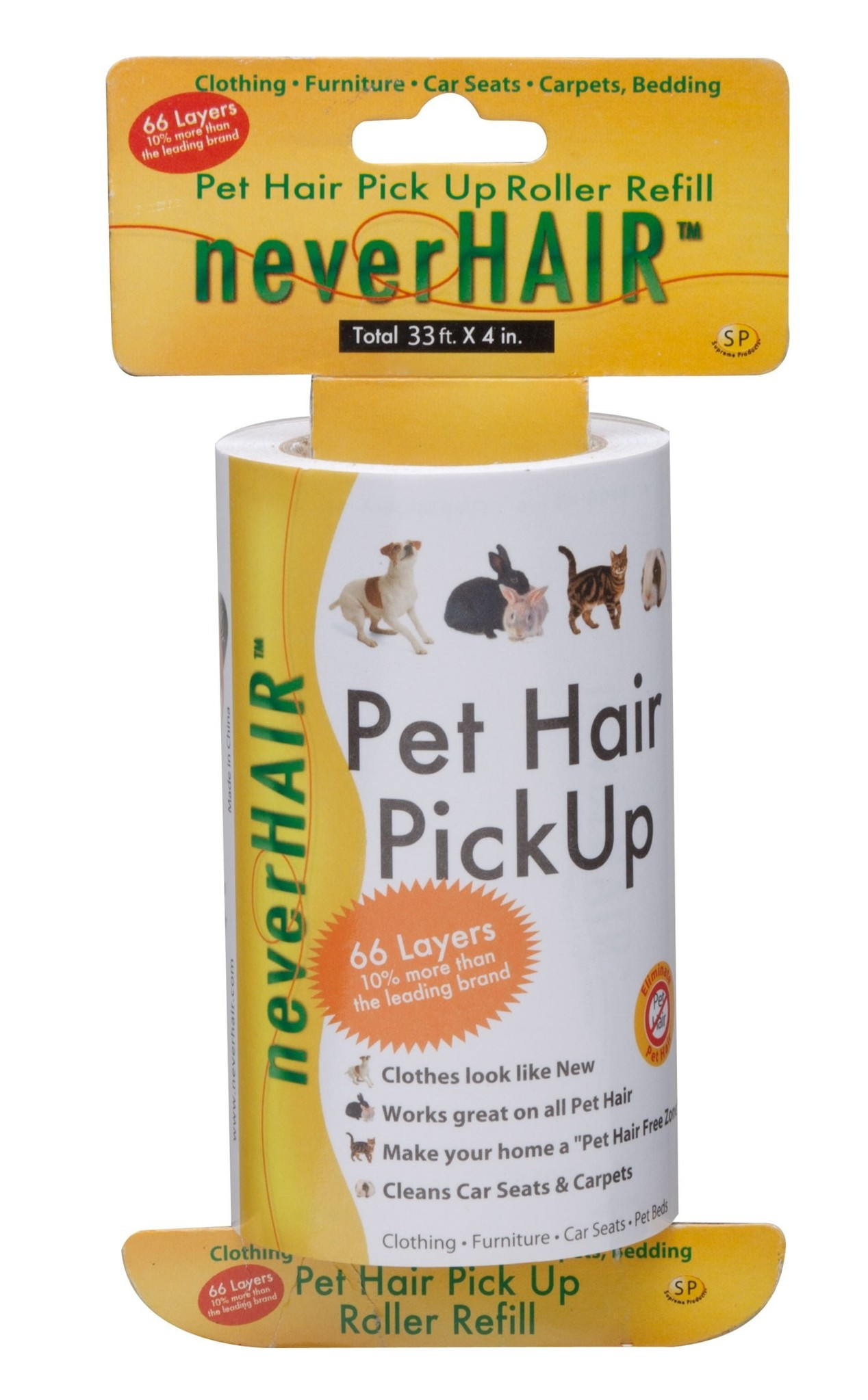 Savory Prime NeverHair Pick Up Lint Roller Re-Fill