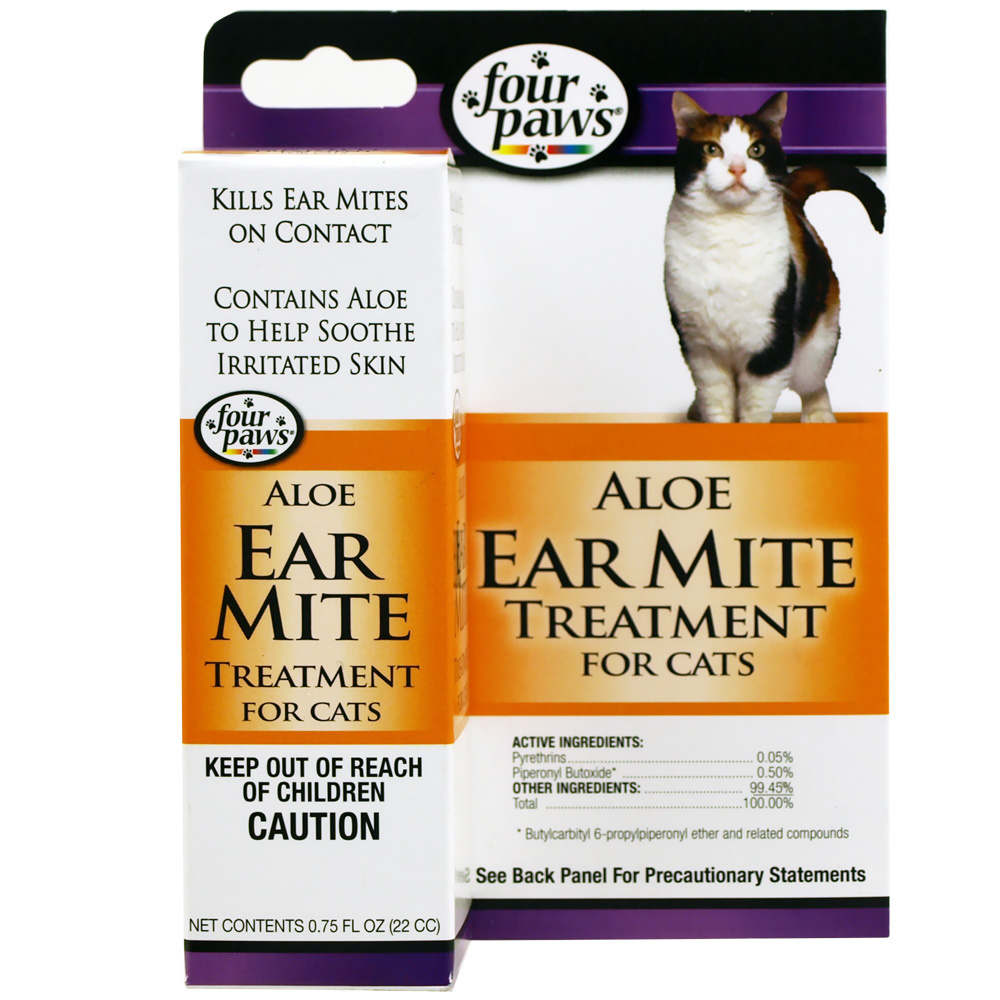 Four Paws Four Paws Ear Mite Remedy for Cats 0.75oz