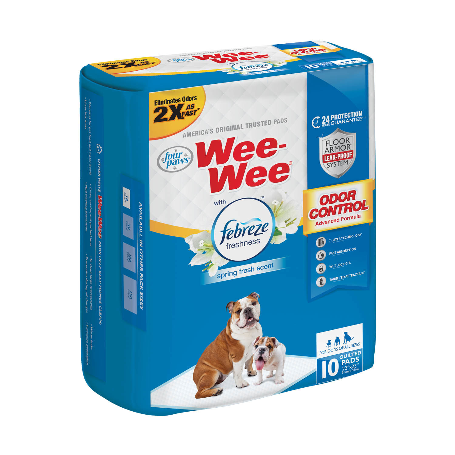 Four Paws Four Paws Wee Wee Training Pads Odor Control with Febreze Freshness