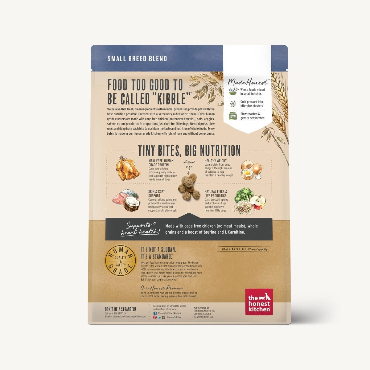 The Honest Kitchen The Honest Kitchen Clusters Small Breed Whole Grain Chicken Dog Food