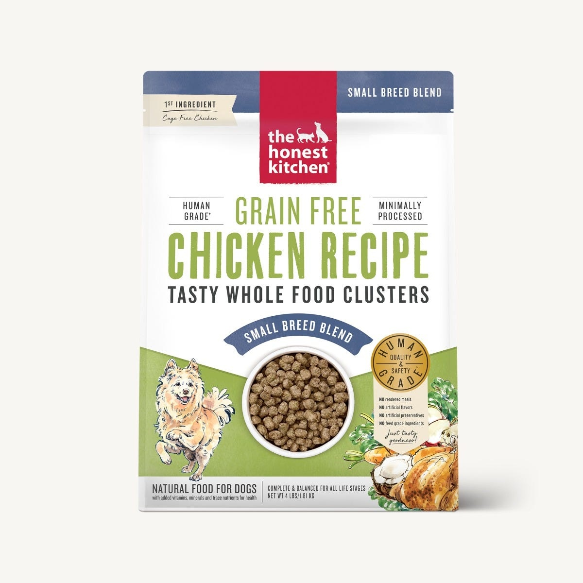 The Honest Kitchen The Honest Kitchen Clusters Small Breed Grain Free Chicken Dog Food