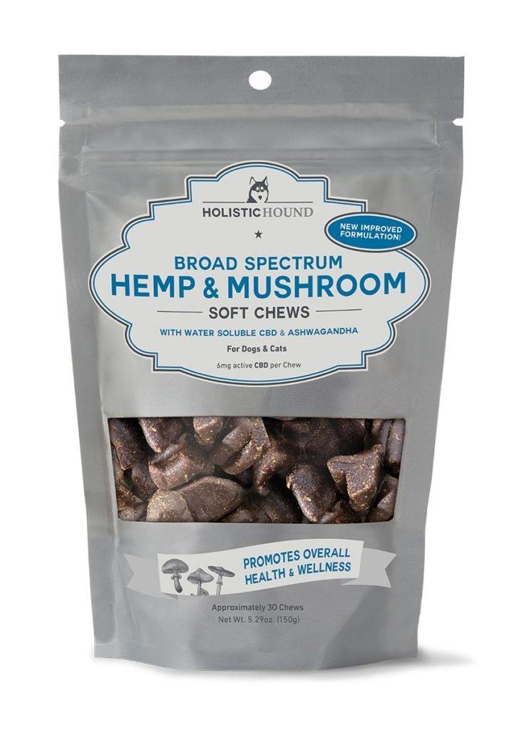 Holistic Hound Holistic Hound Broad Spectrum Hemp & Mushroom Soft Chews for Dogs & Cats 6mg