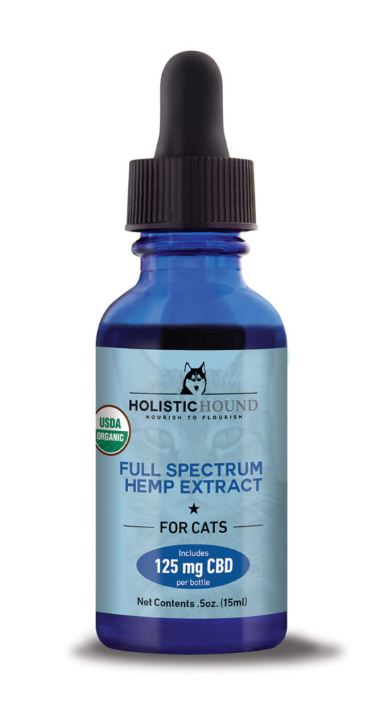 Holistic Hound Holistic Hound Organic Full Spectrum Hemp Oil for Cats 125mg 0.5oz