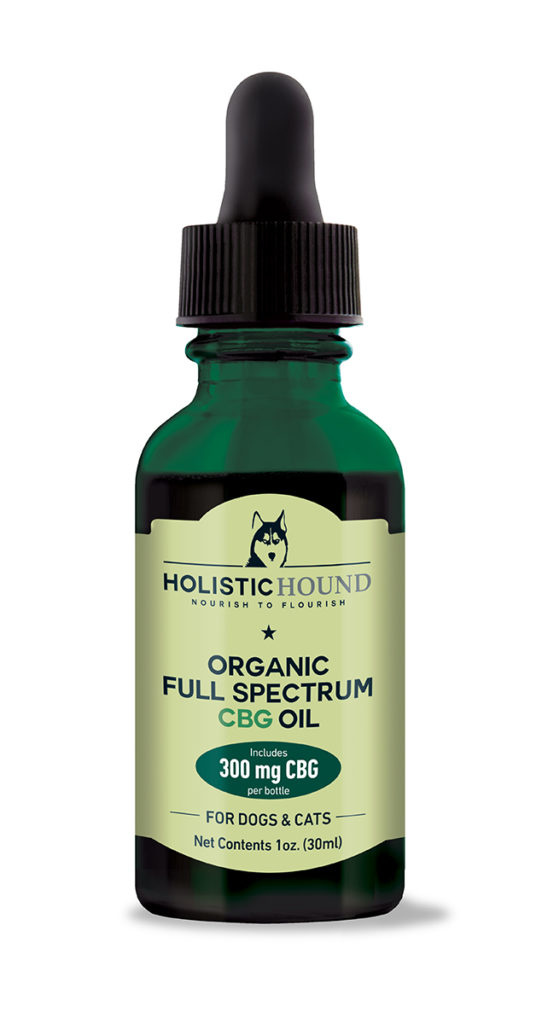 Holistic Hound Holistic Hound Organic Full Spectrum CBG Oil for Dogs & Cats 300mg 1oz