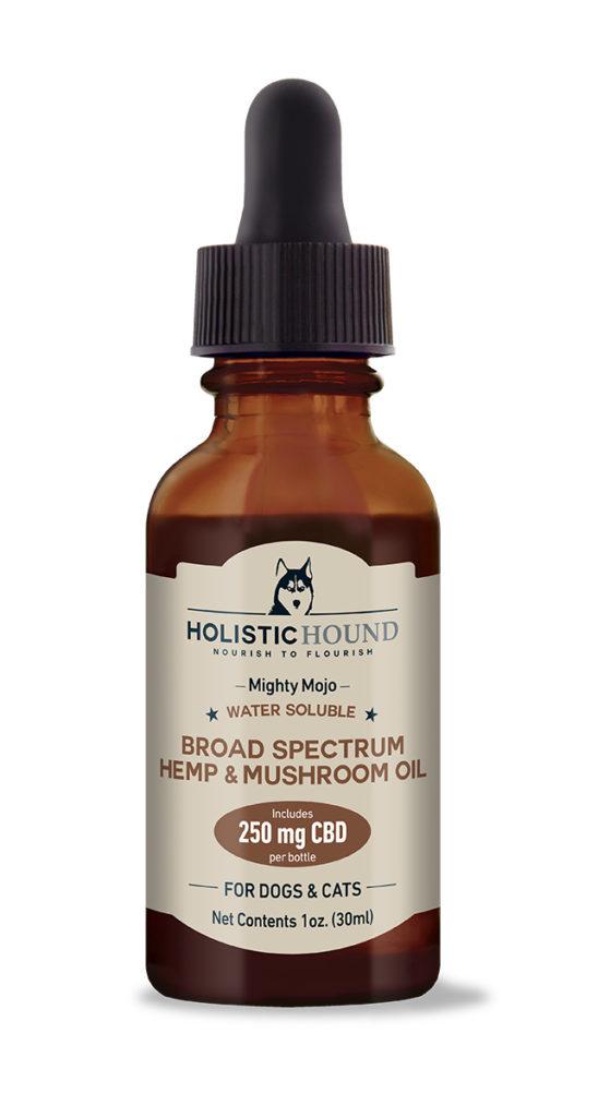 Holistic Hound Holistic Hound Mighty Mojo Broad Spectrum Hemp & Mushroom Oil for Dogs & Cats 250mg 1oz