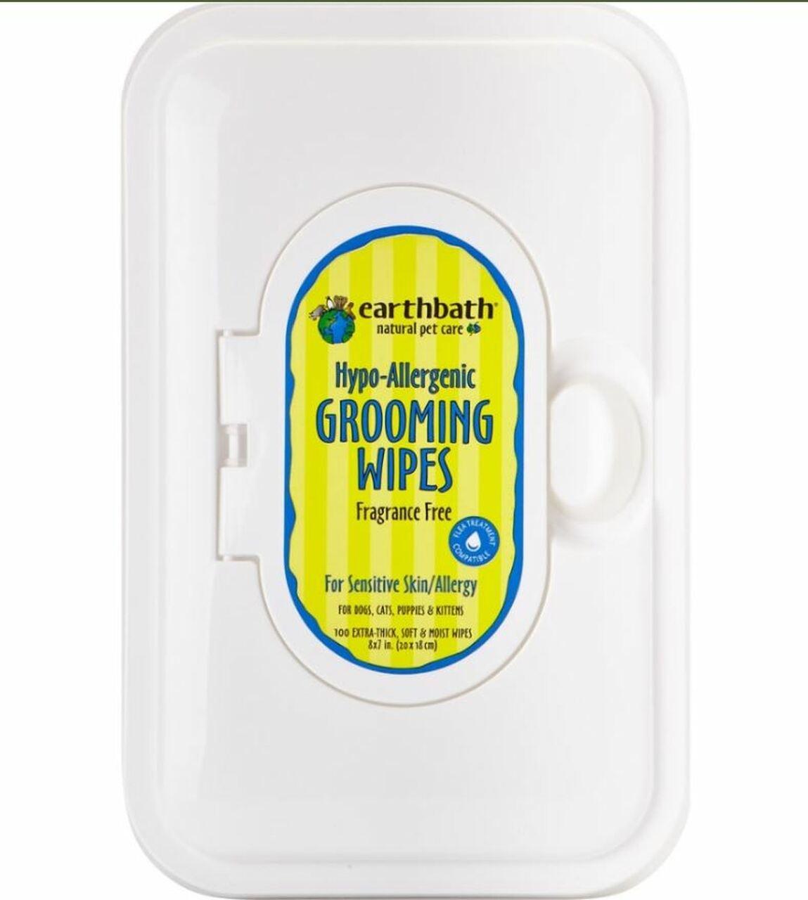 Earthbath Earthbath Hypo-Allergenic Fragrance Free Grooming Wipes