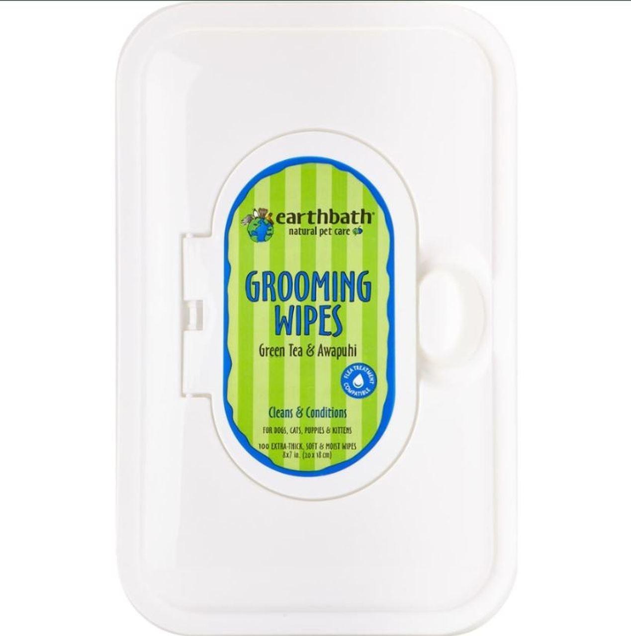 Earthbath Earthbath Shed Control Green Tea & Awapuhi Grooming Wipes