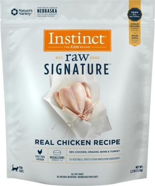 Instinct Instinct Signature Medallions Real Chicken Raw Cat Food 2.7#