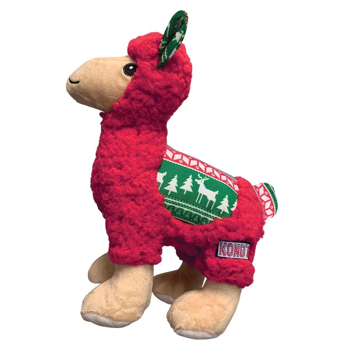 Kong Kong Holiday Sherps Llama Medium Dog Toy