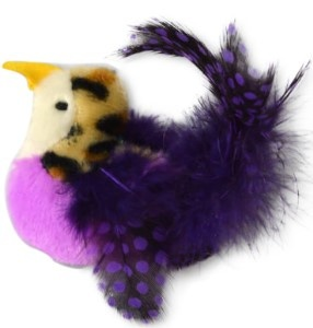 OurPets Realbird Purple Cat Toy