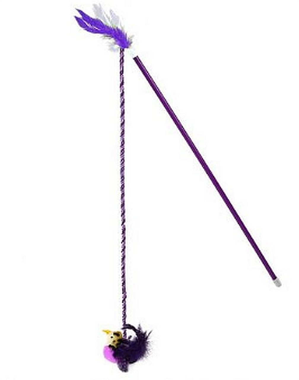 OurPets Realbird Purple Wand Cat Toy