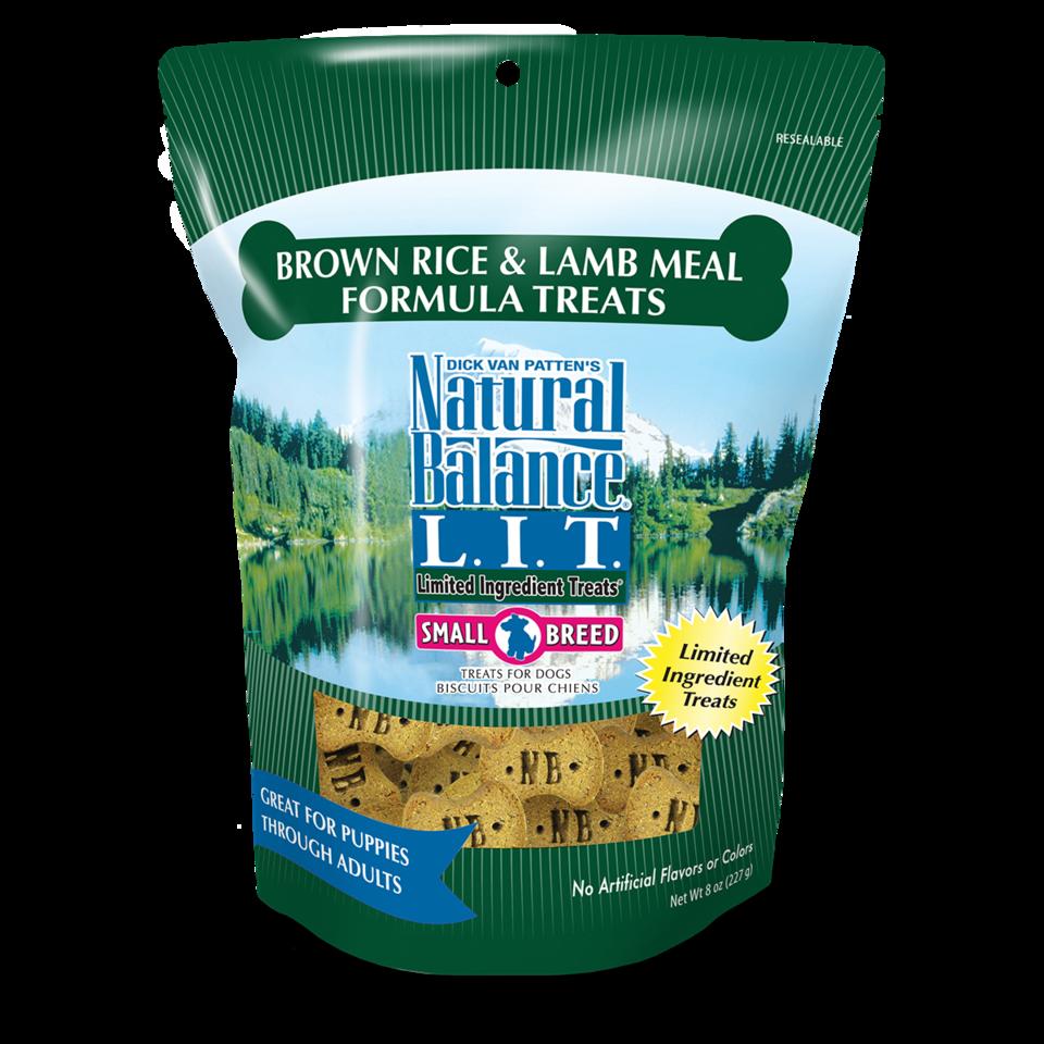 Natural Balance Natural Balance LIT Brown Rice & Lamb Dog Treats Small Breed 8oz