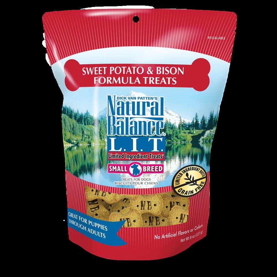 Natural Balance Natural Balance LIT Sweet Potato & Bison Dog Treats Small Breed 8oz