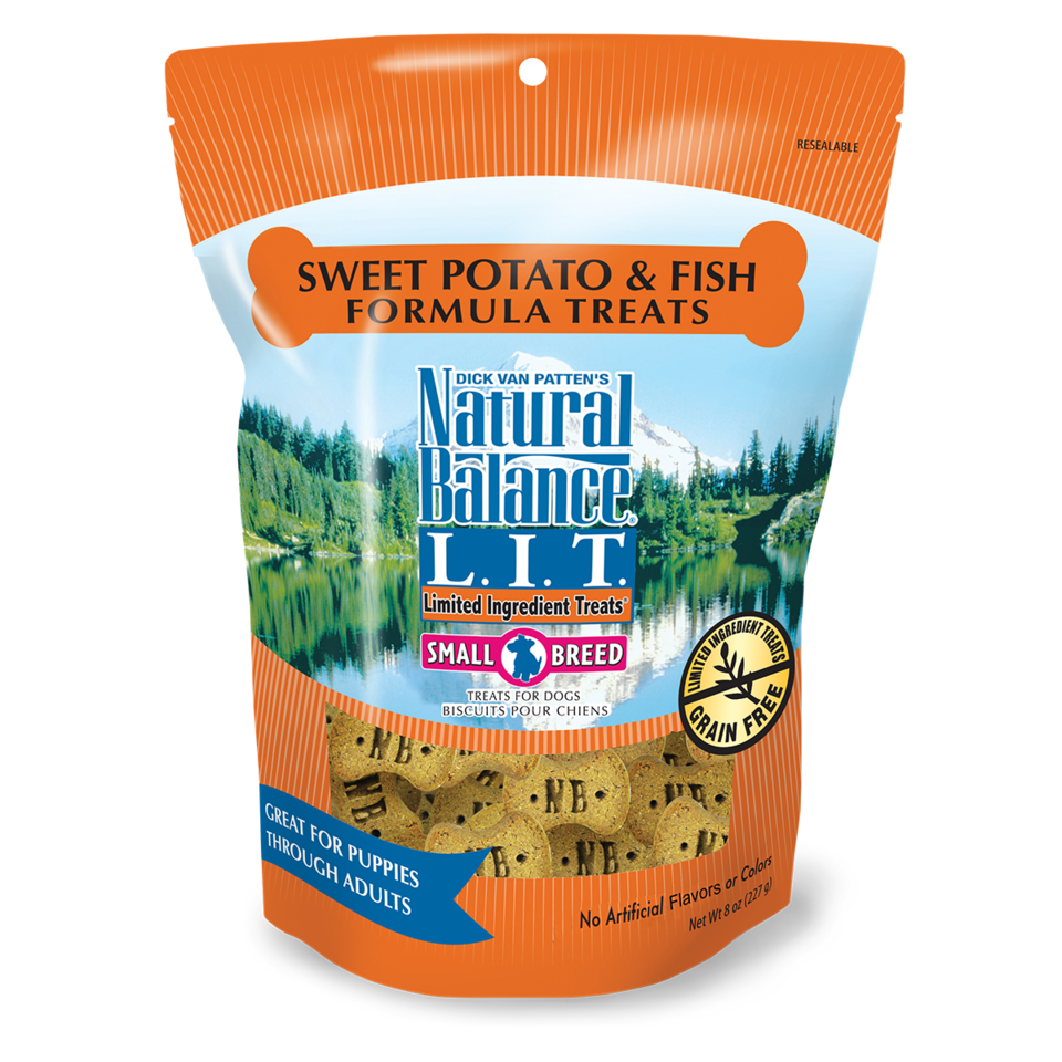 Natural Balance Natural Balance LIT Sweet Potato & Fish Dog Treats Small Breed 8oz